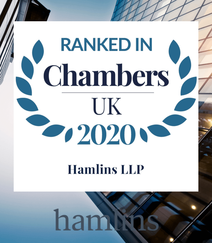 Hamlins' expertise recognised in Chambers and Partners 2020