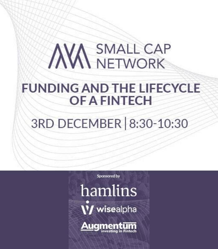 Small Cap Network: FinTech, 3 December 2019