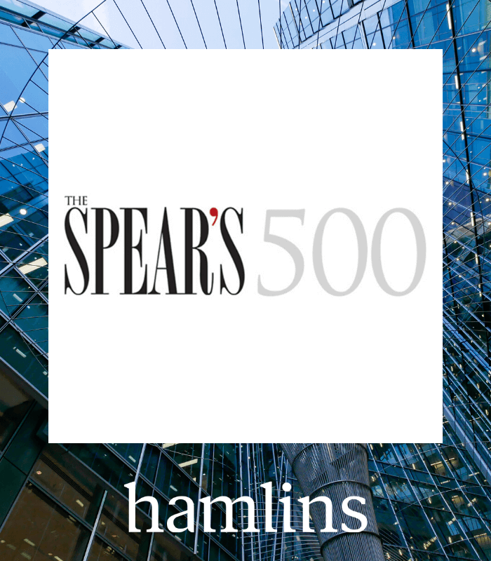 Hamlins' Partners recognised by the Spear's 500 2020 guide