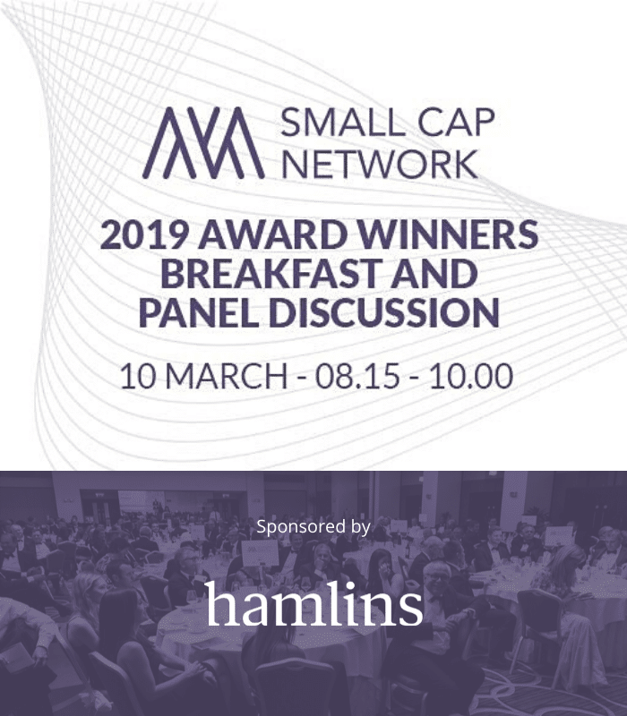 Small Cap Network: Winners Breakfast & Panel Discussion, 10 March 2020