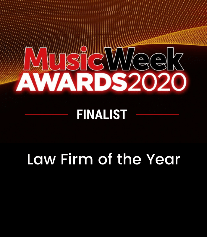 Hamlins shortlisted as 'Law Firm of the Year' at Music Week Awards 2020