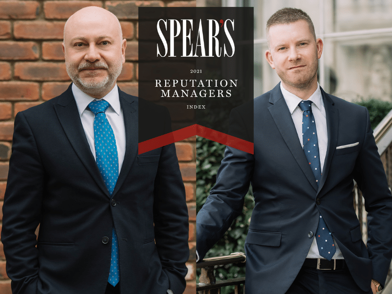 Hamlins' Partners recommended by the Spear's 500 2021 index