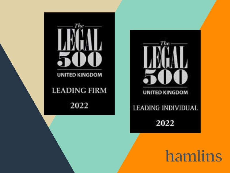Hamlins recognised as Leading Firm by Legal 500 2022